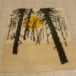 hooked wall rug