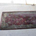 oriental rug before being cleaned