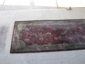 oriental rug before being cleaned