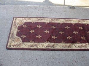 oriental rug after being cleaned