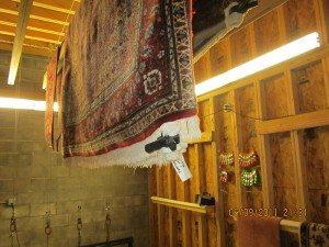 rug drying