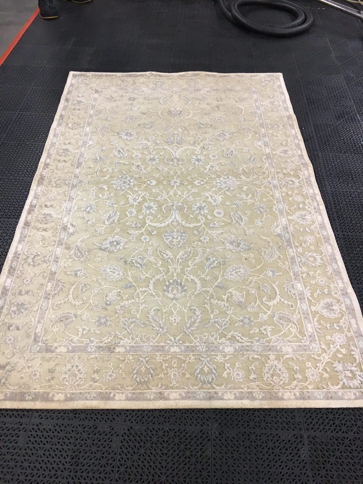 After Before Cleaning In Progress Rug