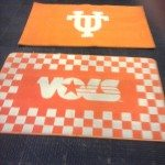 Tennessee Volunteers rug after being cleaned
