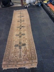 rug before being cleaned