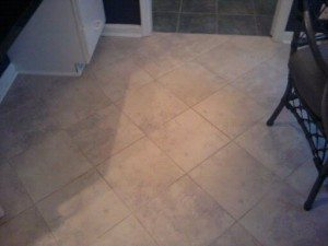 tile floor after being cleaned