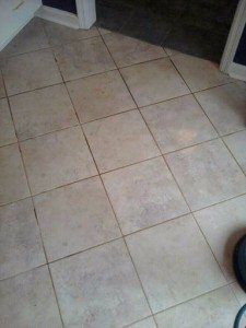 tile floor before being cleaned