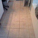tile floor before being cleaned
